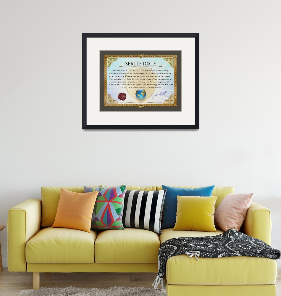 """""""Certificate document award 3"""" (2021) by Radiant"""