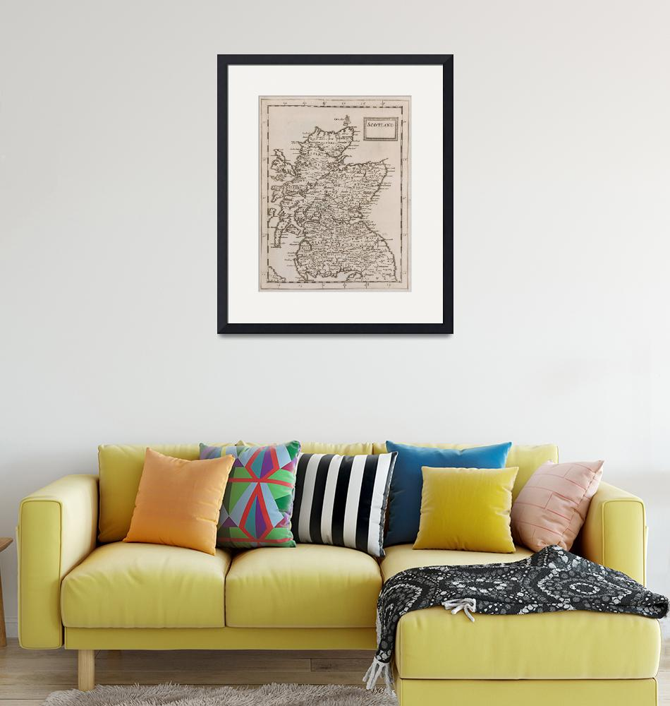 """""""Vintage Map of Scotland (1681)""""  by Alleycatshirts"""