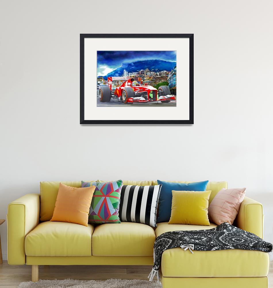 """Ferrari at Monaco""  (2013) by ArtbySachse"