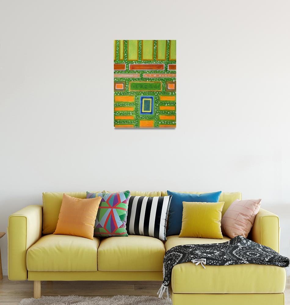 """""""Filled Rectangles on Green Dotted Wall""""  (2010) by HeidiCapitaine"""