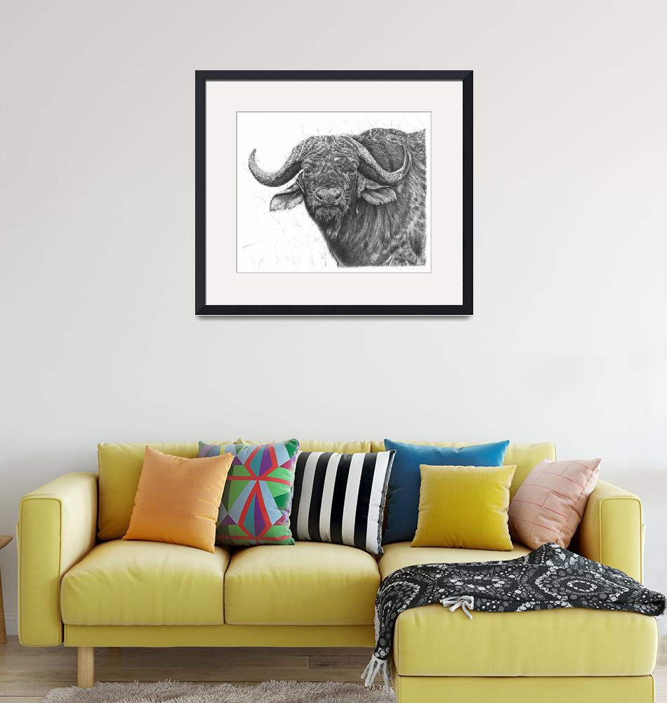 """Cape Buffalo""  (2016) by Remrov"
