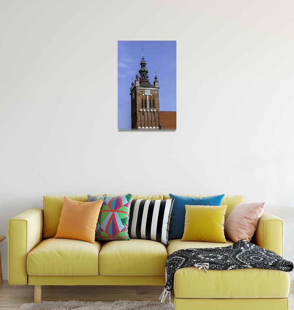 """Clock Tower, Gdansk, Poland.""  by FernandoBarozza"