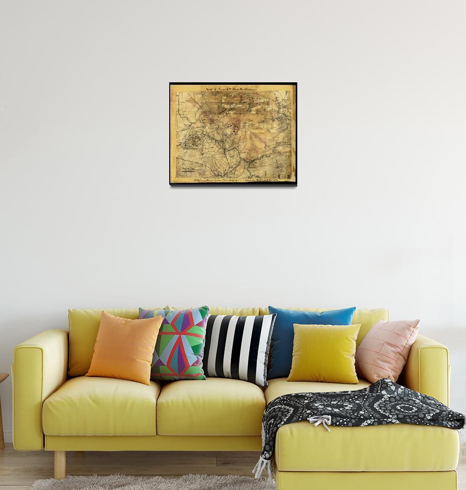 """Sneeden Map of 1st & 2nd Battles of Bull Run"" by burnishedbronzepress"