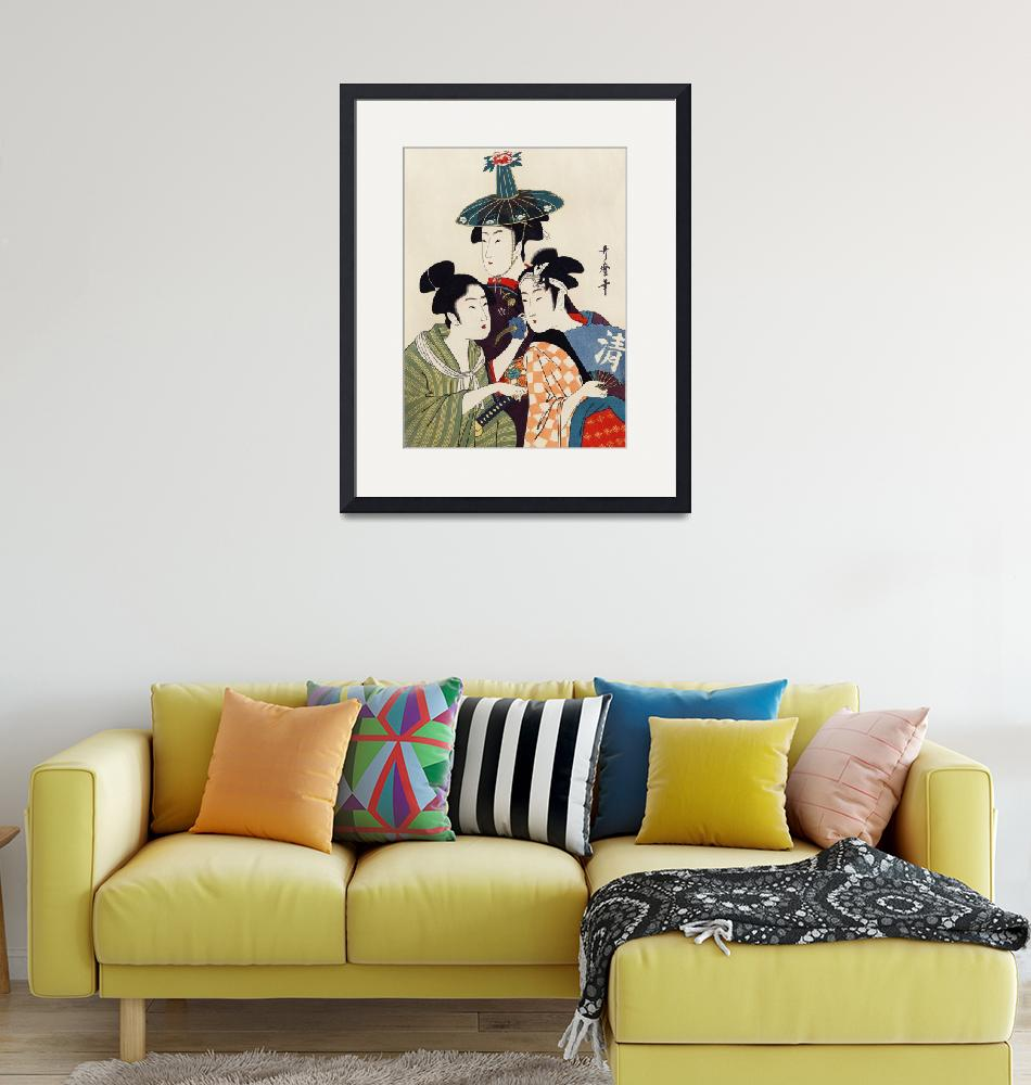 """Three Young Women by Utamaro Kitagawa""  by FineArtClassics"
