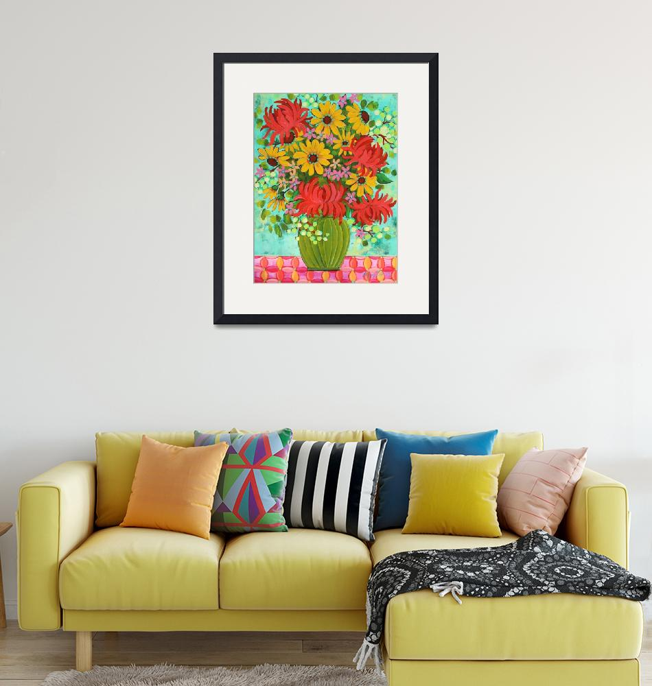 """""""Spring Mums and Daisys"""" (2016) by PeggySueDavis"""