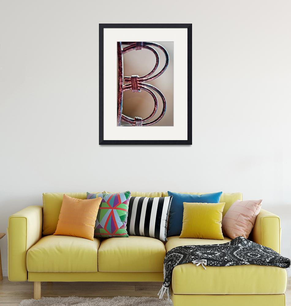 """Letter B""  (2010) by Amberwatsonwilliams"