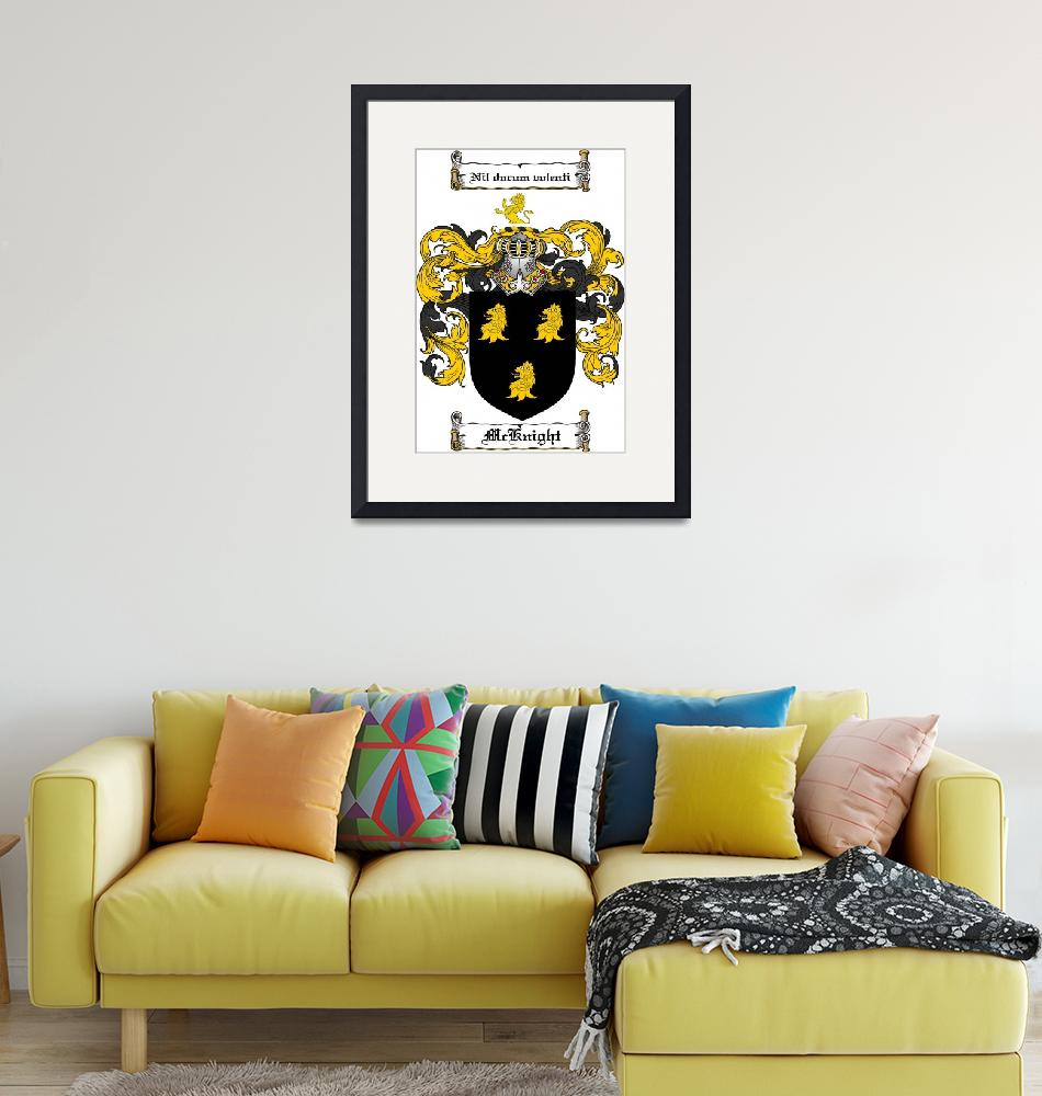 """""""MCKNIGHT FAMILY CREST - COAT OF ARMS""""  by coatofarms"""
