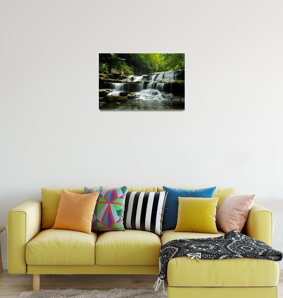 """""""Busby Falls""""  (2010) by LynnRoebuck"""