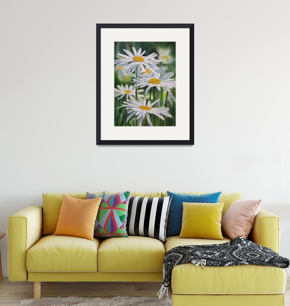 """""""Daisy Garden""""  (2011) by Pacific-NW-Watercolors"""