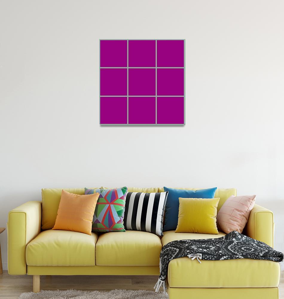"""Violet Window 187 Canvas Contemporary Modern""  (2010) by Ricardos"