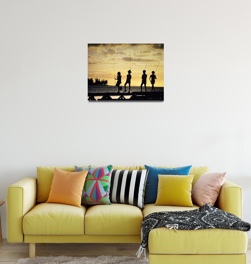 """SunsetFisherman""  by DerekBerwin"