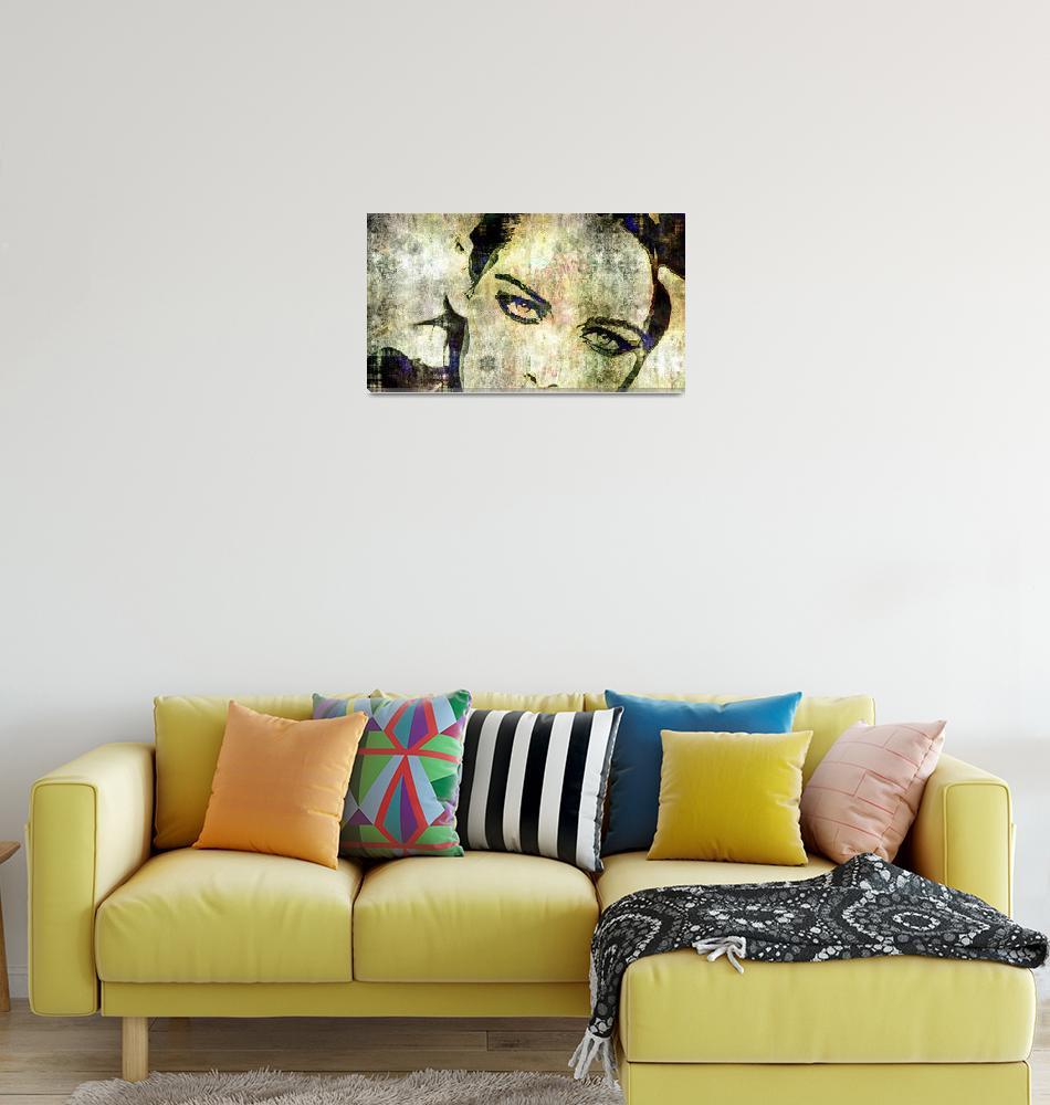 """Digital Pop art portrait of celebrity Kristen Stew""  (2017) by svelby"