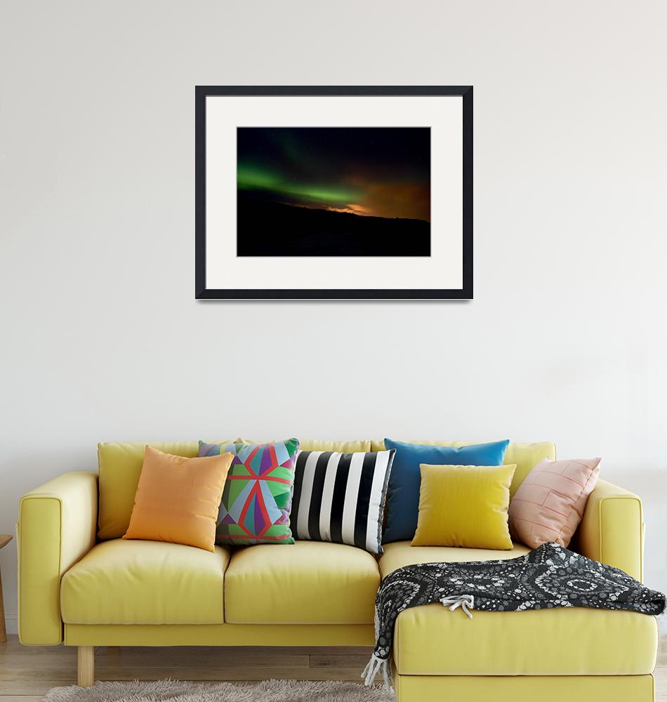 """""""Aurora in Reykjanes Peninsula #1""""  (2009) by falconcreations"""