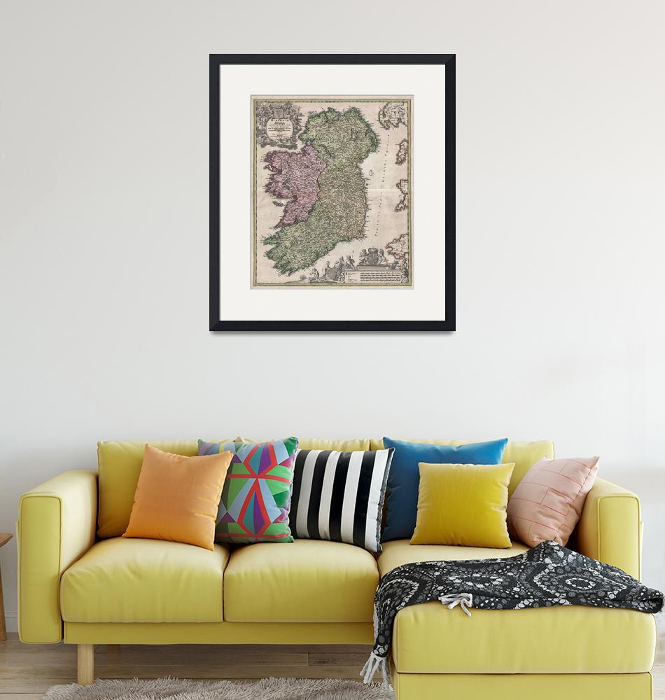"""Map of Ireland Homann""  by FineArtClassics"