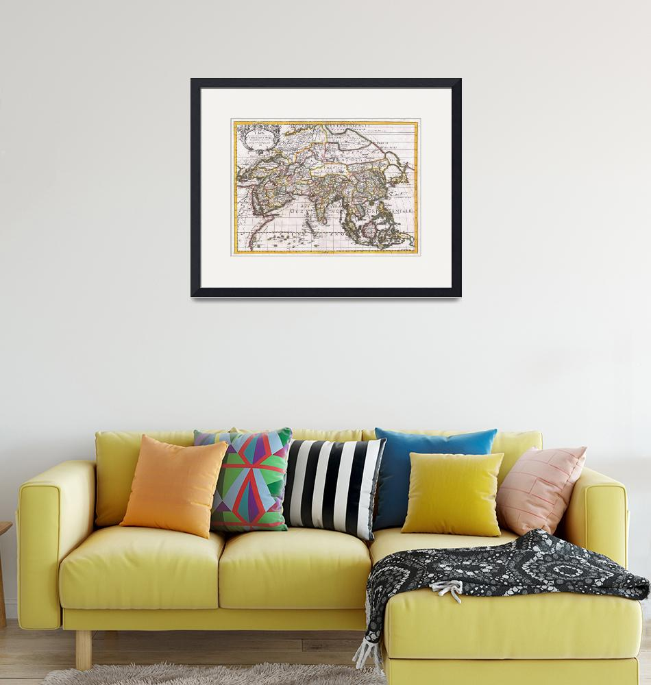 """Vintage Map of Asia (1687)""  by Alleycatshirts"