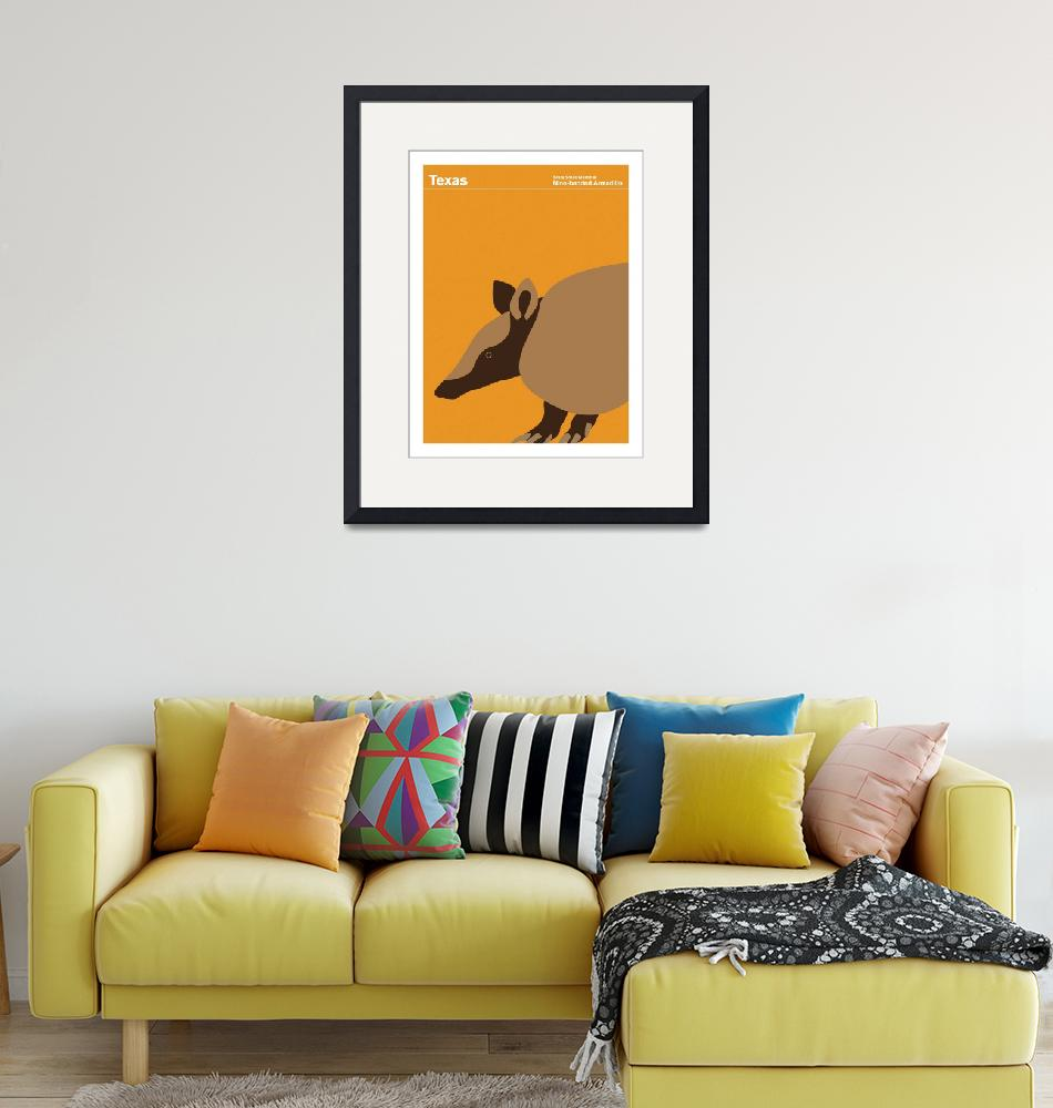 """""""Texas State Small Mammal: Nine-banded Armadillo""""  by artlicensing"""