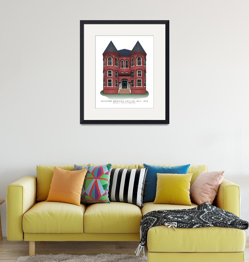 """""""Leonard Hall in Raleigh, North Carolina""""  (2008) by ArchiPrints"""