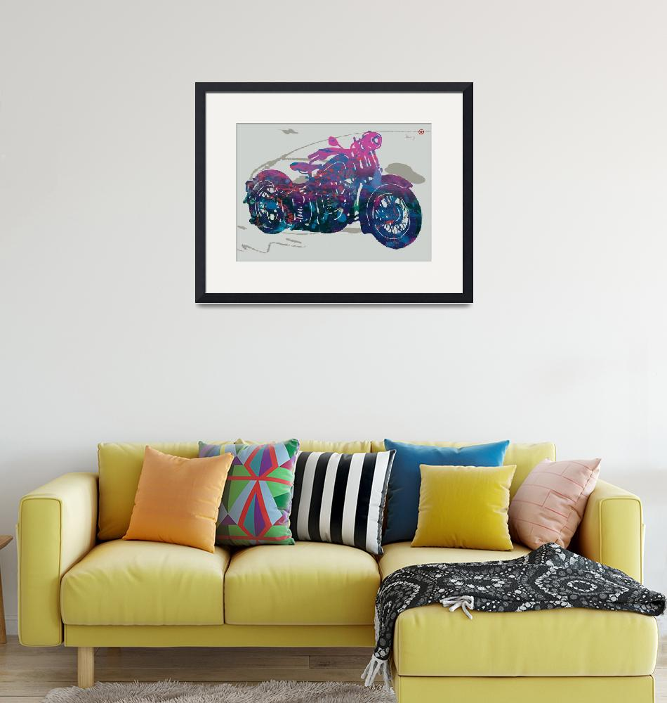 """""""Stylised Motorcycle Art Sketch Poster""""  (2015) by visualharbour"""