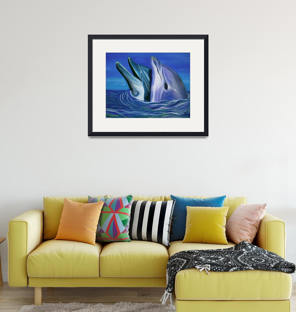 """Dolphin Dance""  (2006) by ArtPrints"