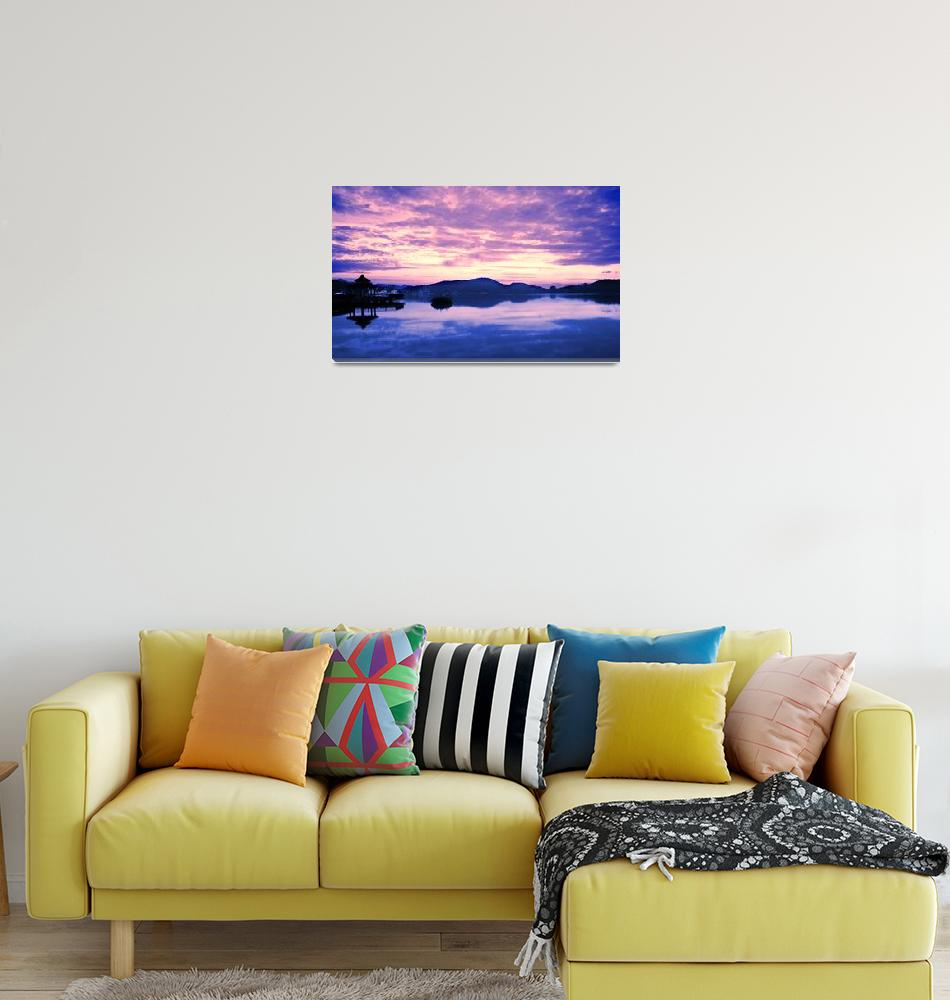 """Dawn at Sun Moon Lake""  by shiyali"