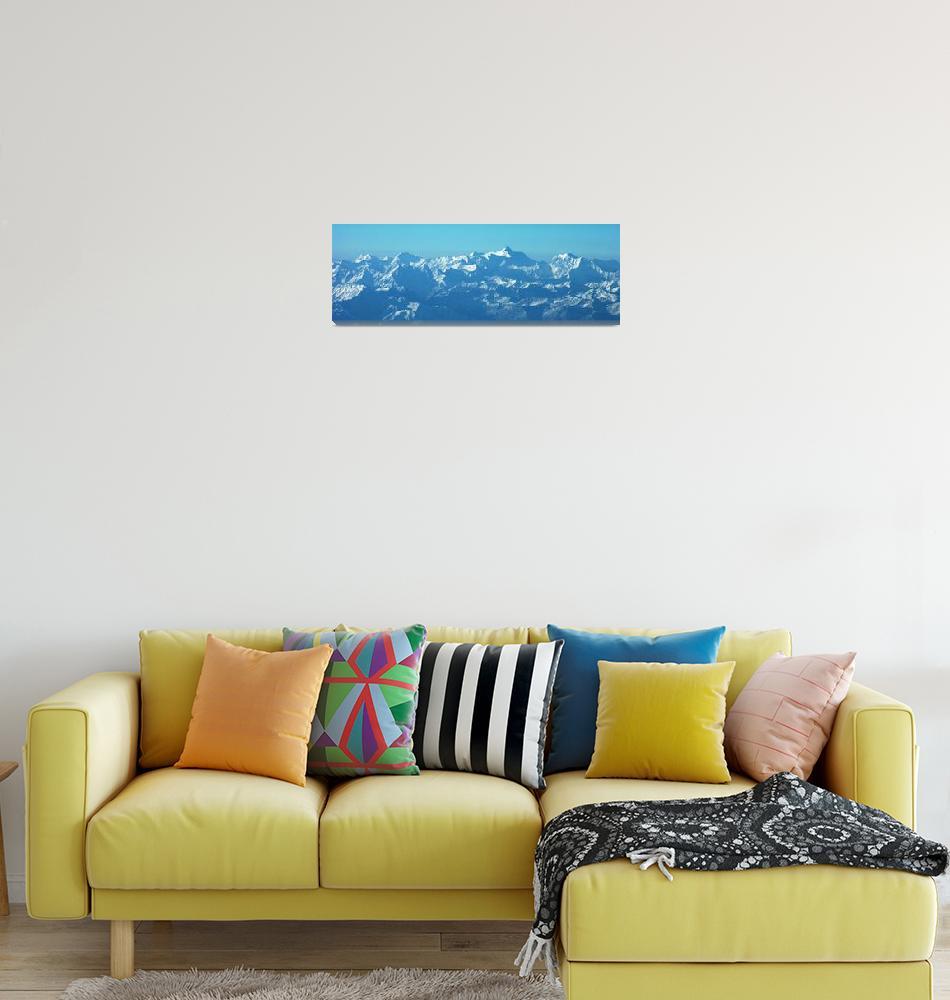 """Ismoil Somoni Peak Panorama Color""  (2006) by Liberando4Life"