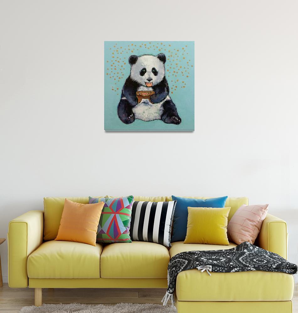 """Panda Gamer 2018 18x18""  by creese"