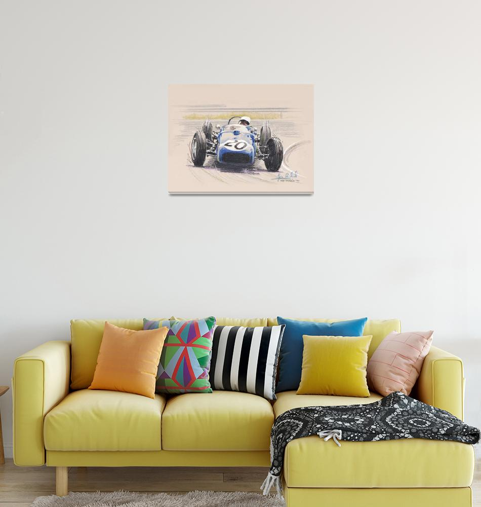 """Stirling Moss, Lotus 18 at Monaco 1961""  by jamesrowland"