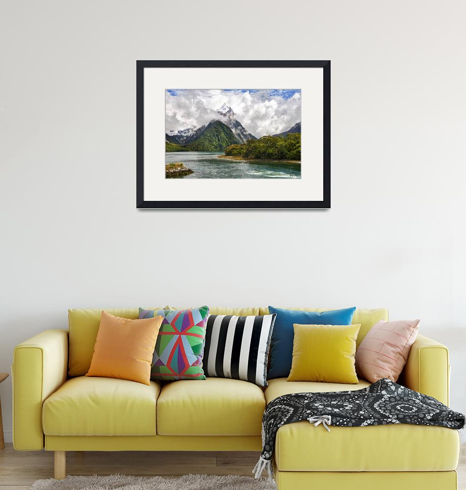 """""""The Magic of Milford Sound - Mitre Peak""""  (2011) by ChristopherByrd"""