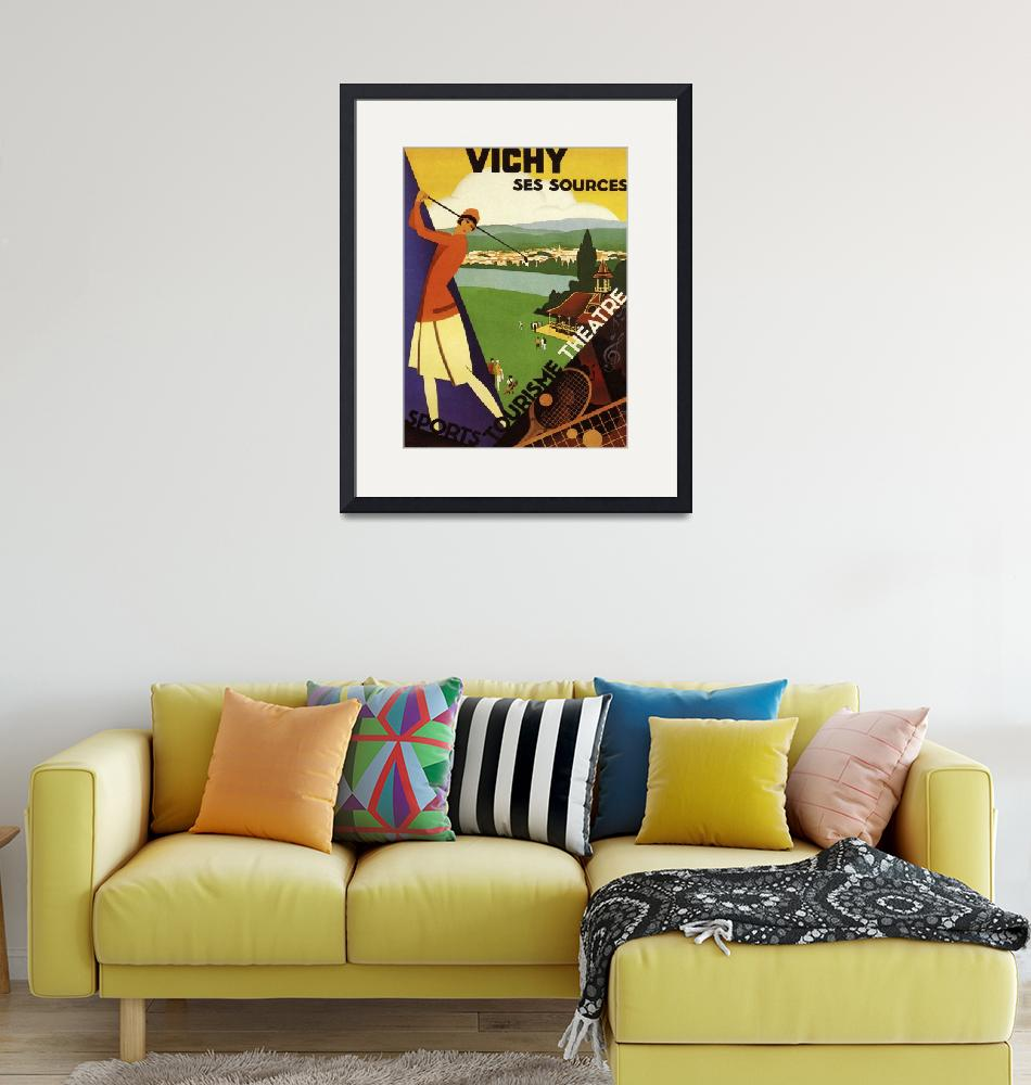 """""""Vichym, France Vintage Travel Poster""""  by FineArtClassics"""