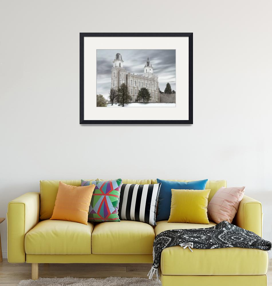 """""""Manti Temple Large-16x22-tinted""""  by TerrySpringer"""