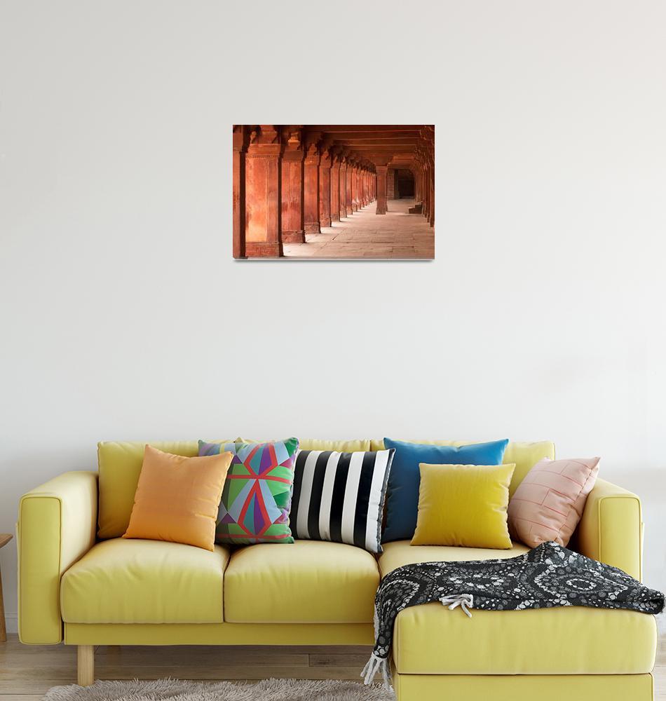 """Hallways of Fatehpur Sikri""  (2009) by shrenik"