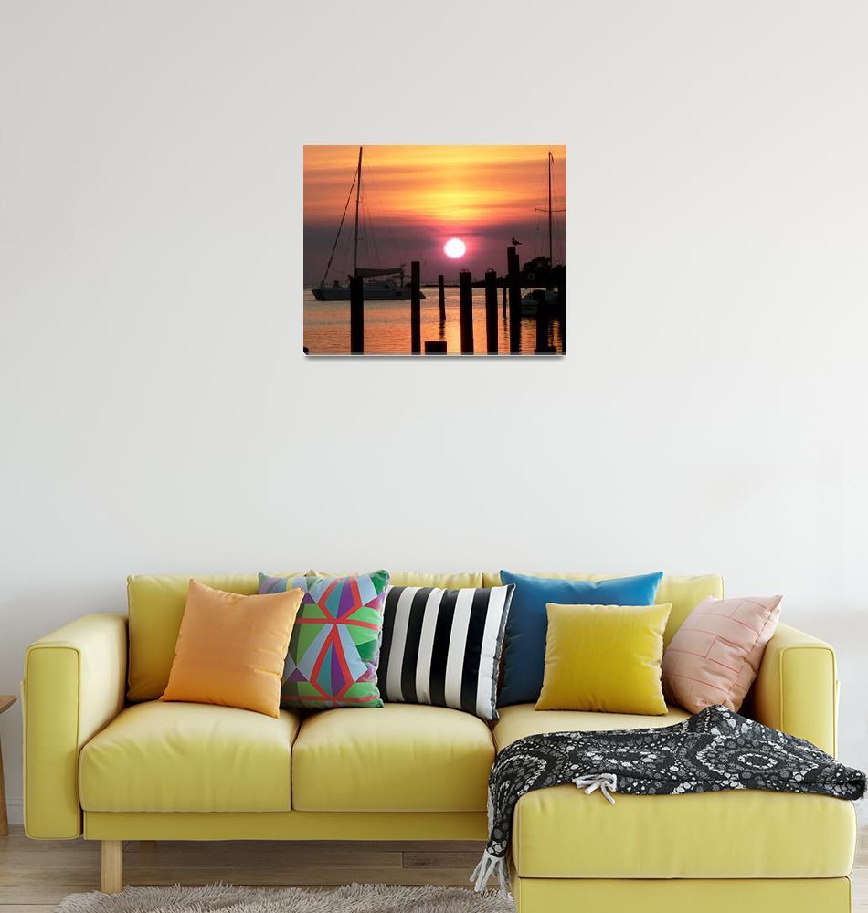 """""""Ocracoke Island Sunset""""  (2007) by rayjacque"""