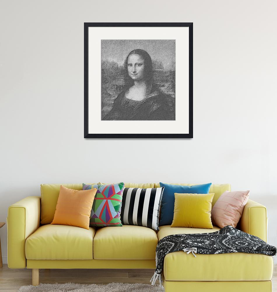 """""""Mona Lisa Cropped black & white"""" (2013) by TheNorthernTerritory"""