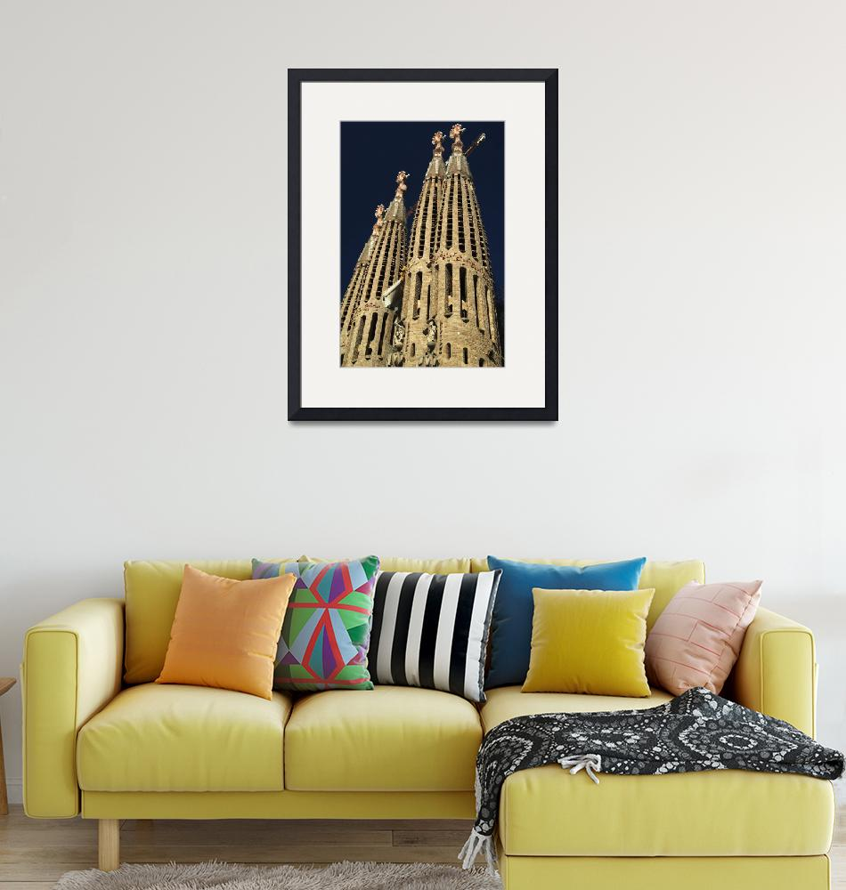 """Sagrada Familia Towers Details""  (2007) by JoaoPonces"