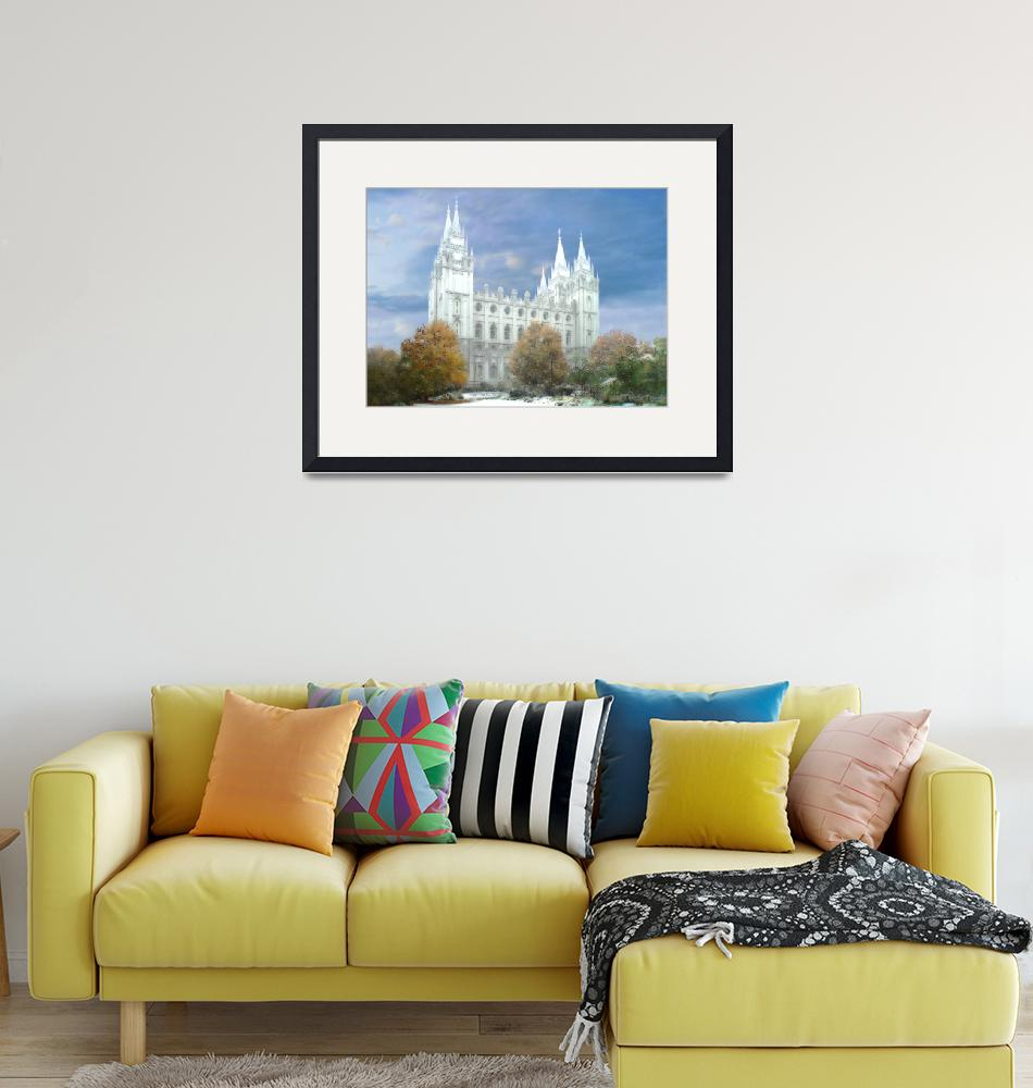"""Salt Lake Temple / Winter""  by TerrySpringer"