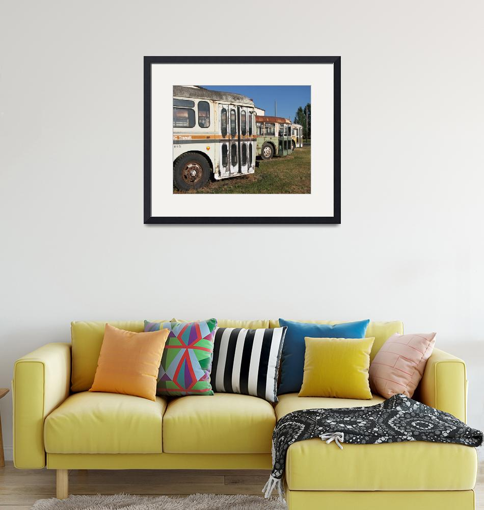 """""""Old Buses - May They Rest in Peace""""  (2008) by hawksmom"""