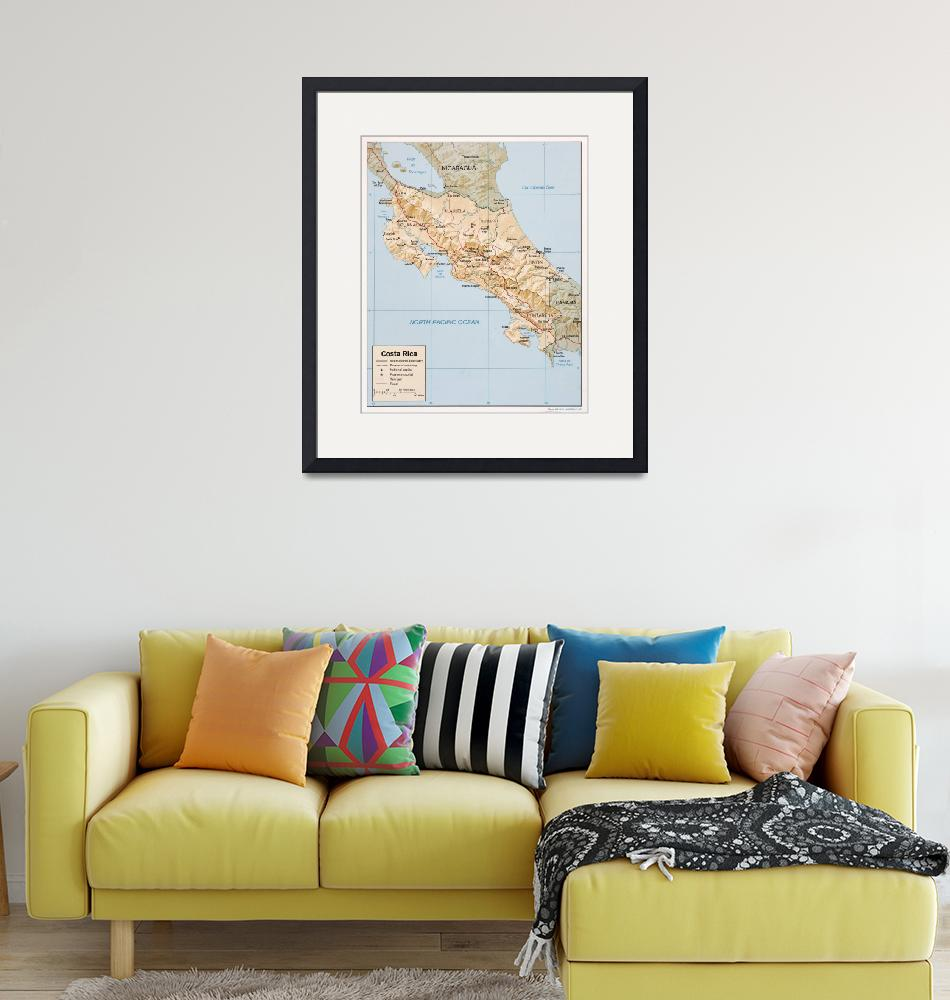 """""""Costa Rica Map (1987)""""  by Alleycatshirts"""