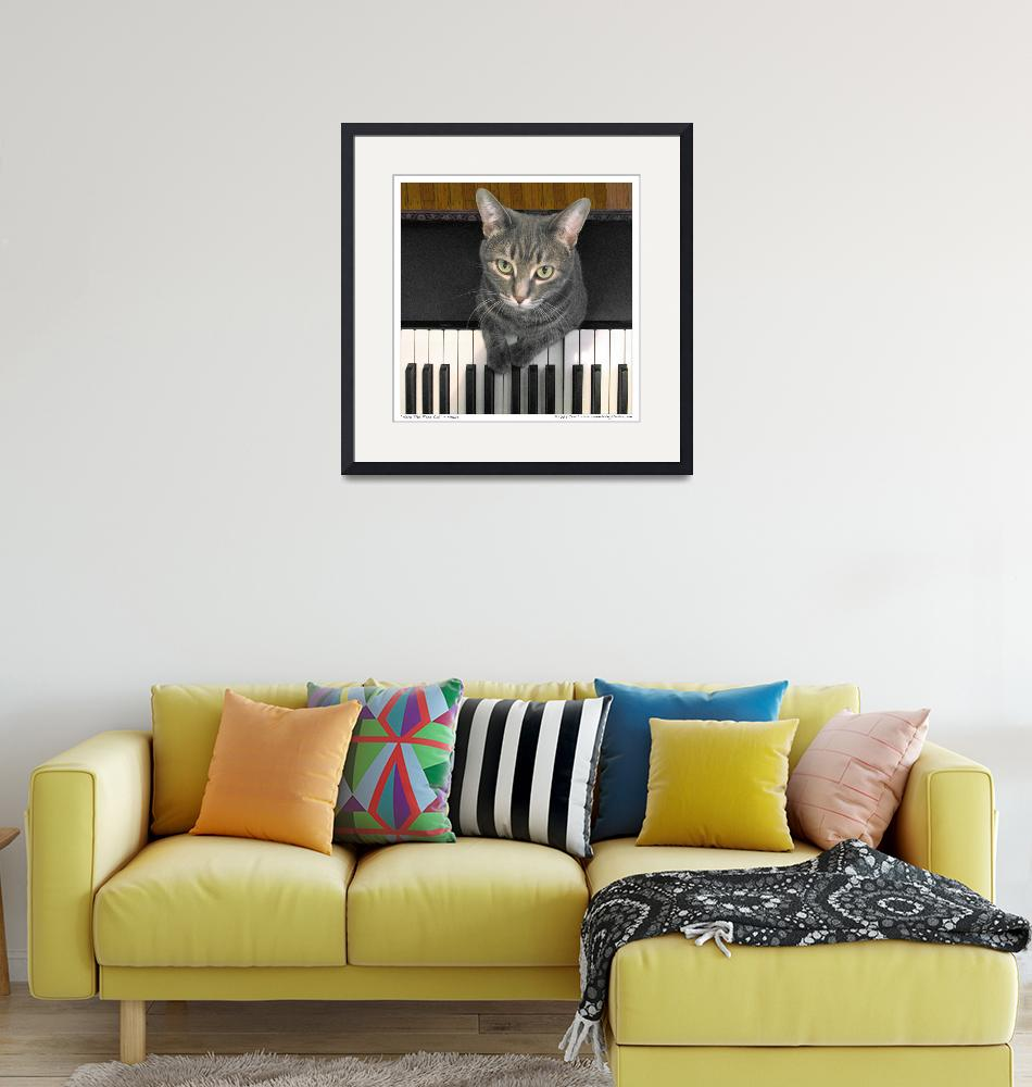 """Nora The Piano Cat™ - n0005""  by ravenswingstudio"