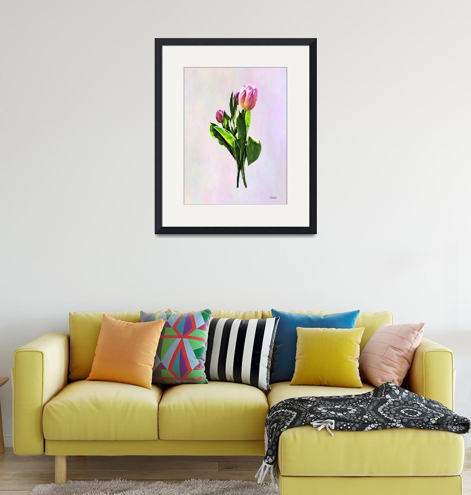 """""""Lovely Pale Pink Tulips""""  by susansartgallery"""