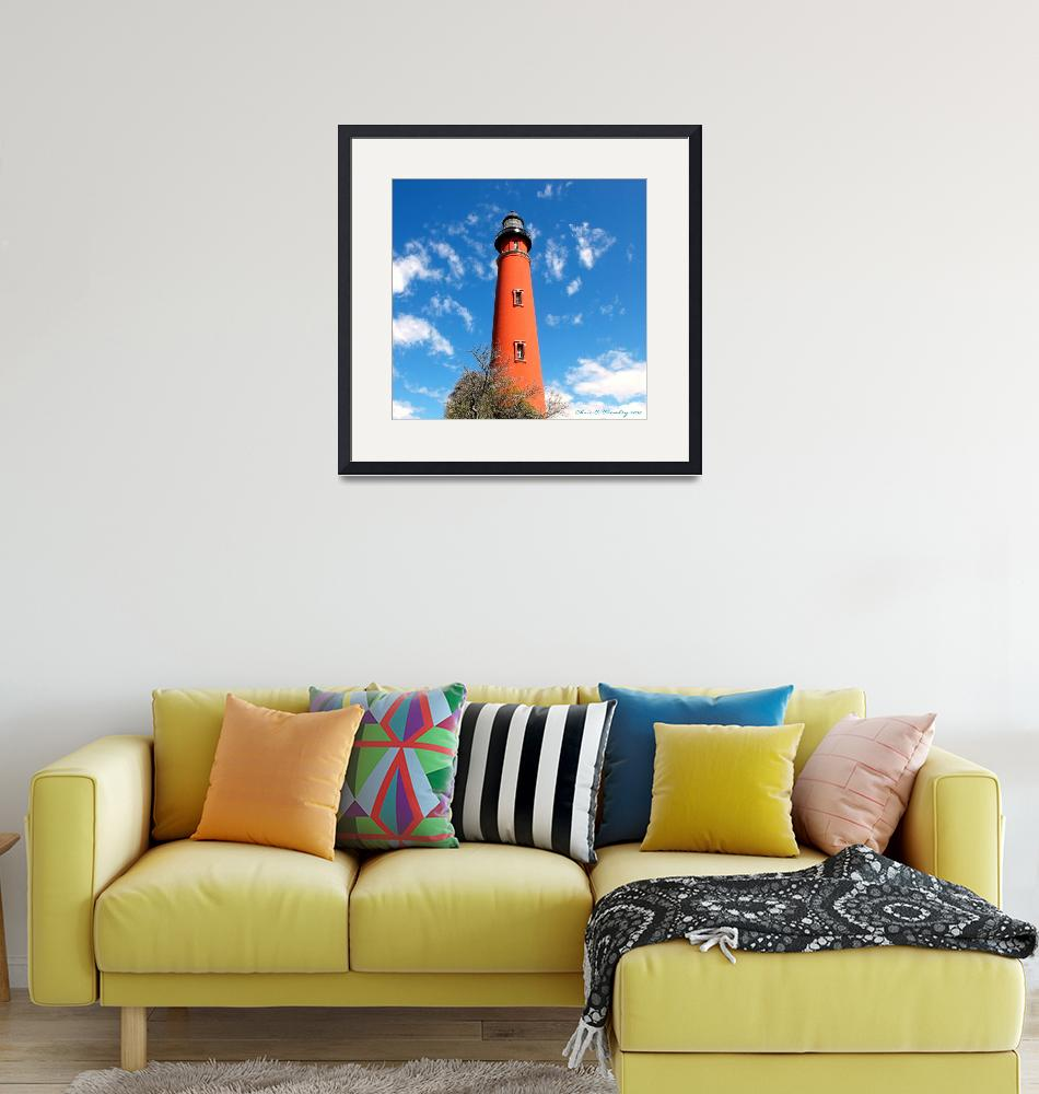"""Ponce Inlet Lighthouse""  (2009) by ChrisCrowley"