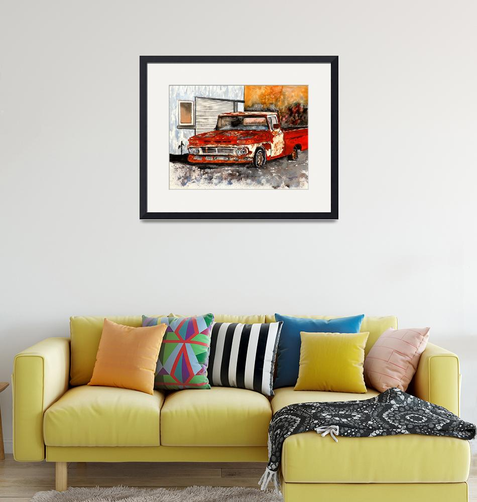 """""""Old Truck Antique Vintage Chevy Painting""""  (2010) by derekmccrea"""