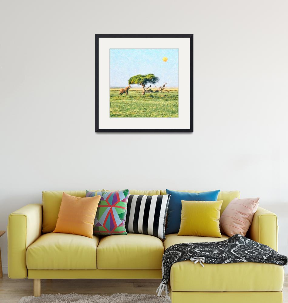 """""""African Elephant in Kenya""""  by motionage"""