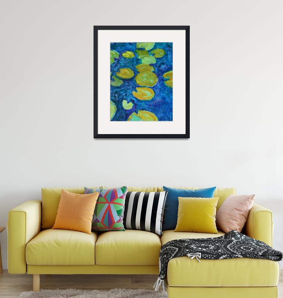 """""""Turquoise Waters 2, Abstract Waterlily Series""""  by schulmanart"""