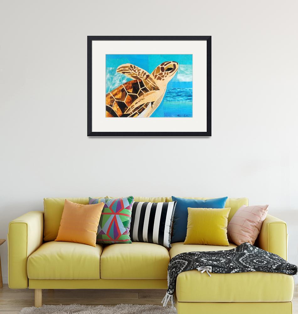 """""""The Soaring Sea Turtle""""  (2020) by megancoyle"""