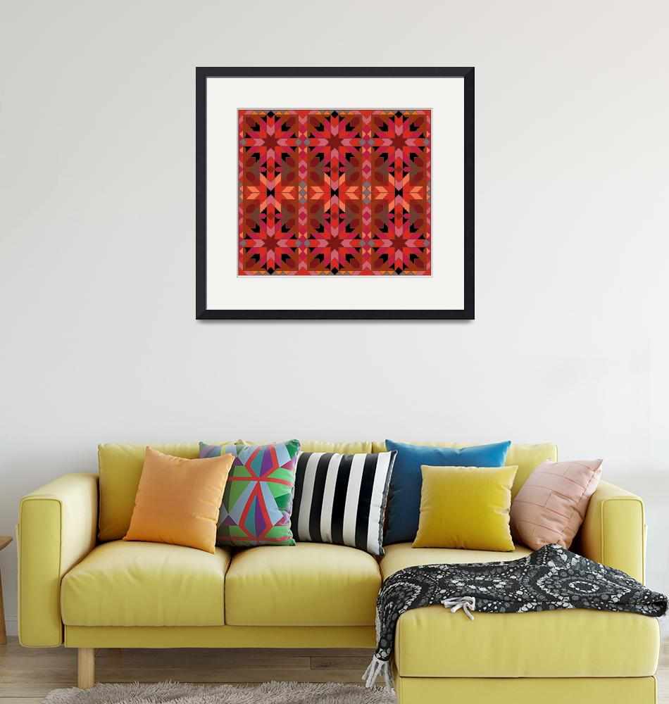 """Morocco 1 red orange black""  (2009) by LeslieTillmann"