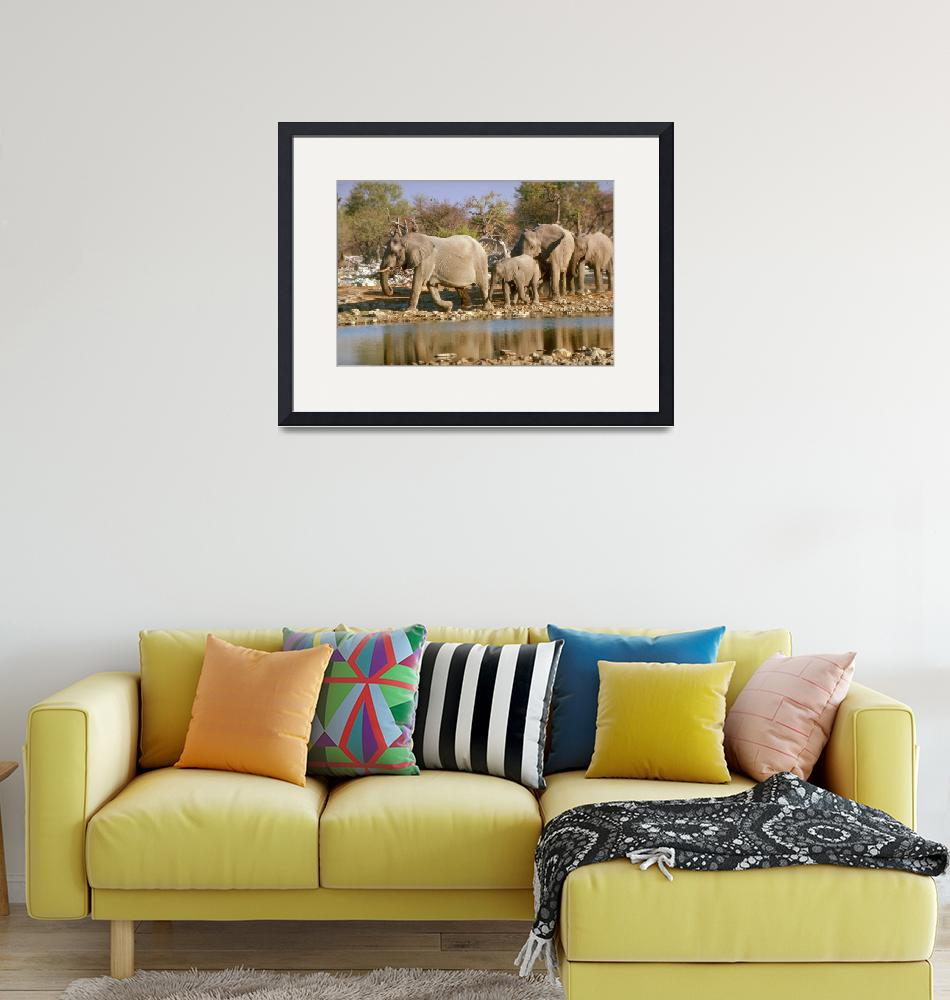 """Endangered African Elephants""  by ArtLoversOnline"