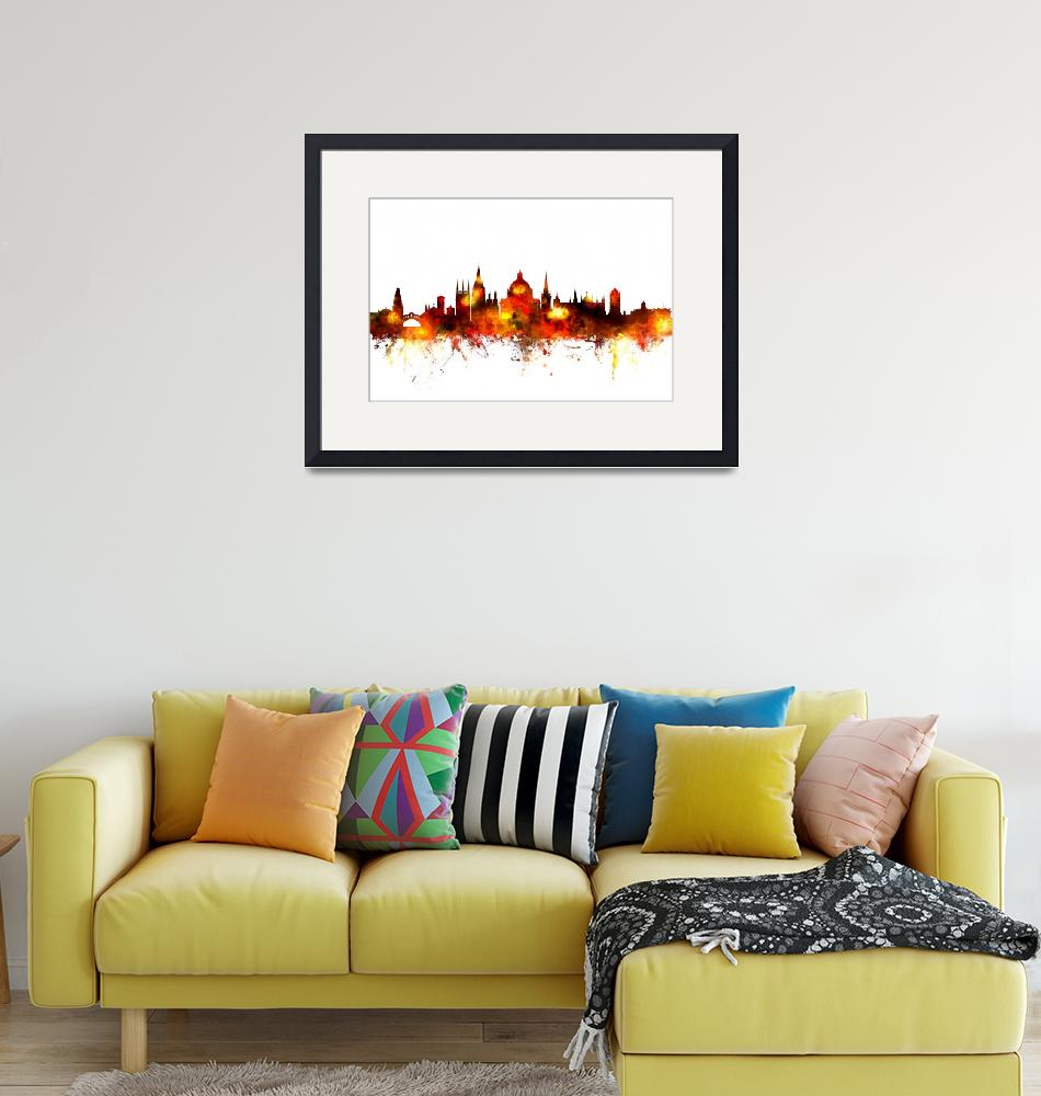 """Oxford England Skyline""  (2015) by ModernArtPrints"