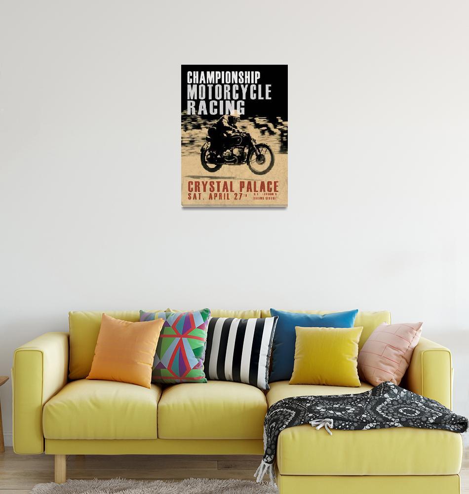 """""""Crystal Palace Motorcycle Racing""""  (2014) by mark-rogan"""