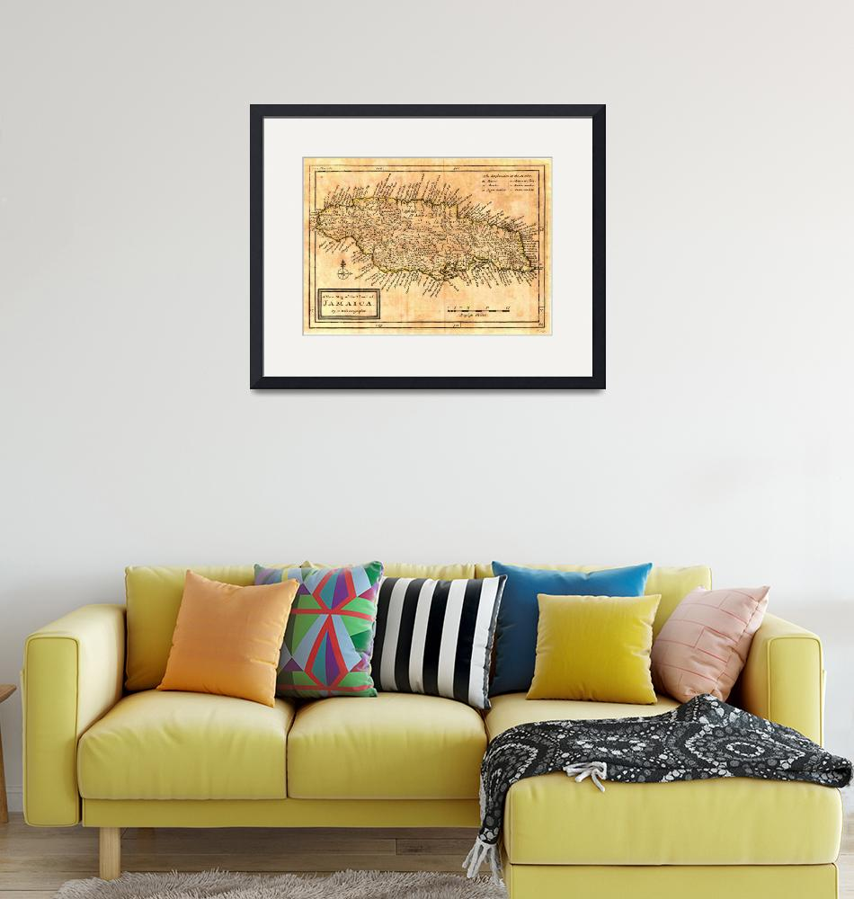 """""""Vintage Map of Jamaica (1771)""""  by Alleycatshirts"""