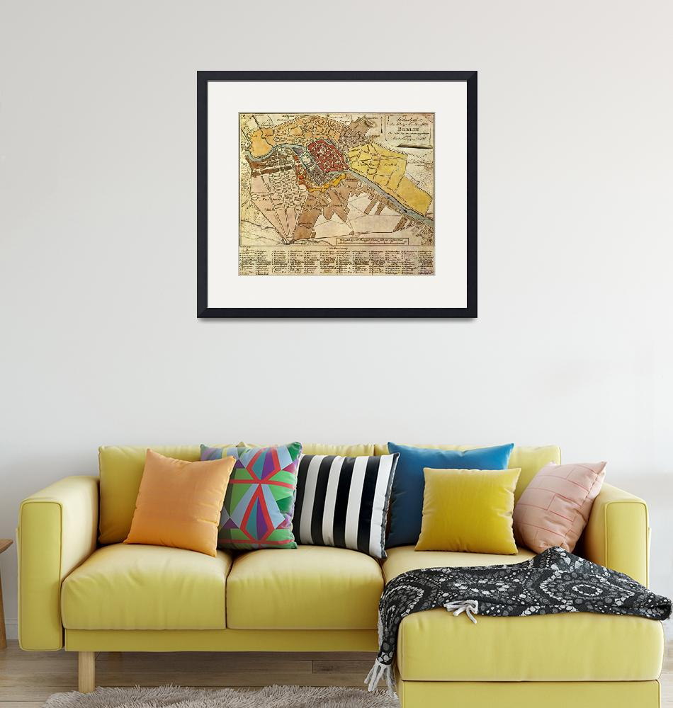 """Vintage Map of Berlin Germany (1789)""  by Alleycatshirts"